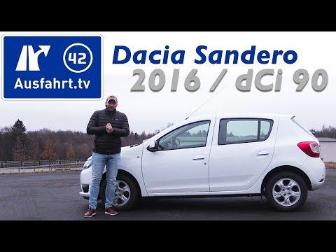 2016 Dacia Sandero dCi 90 Laureate - Fahrbericht der Probefahrt, Test, Review
