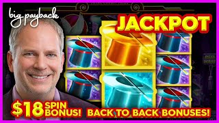 JACKPOT HANDPAY! Lock It Link Hold Onto Your Hat Slot - BACK TO BACK BONUSES!