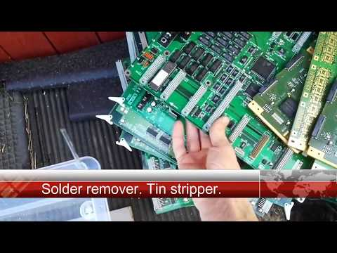 Solder remover. Tin stripping and recovery.