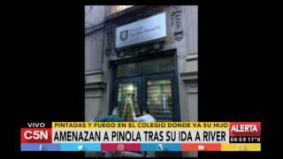 Amenaza a Javier Pinola en Rosario tras su ida a River