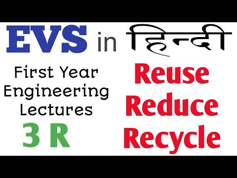 3R [Reuse Reduse Recycle] in hindi   EVS series