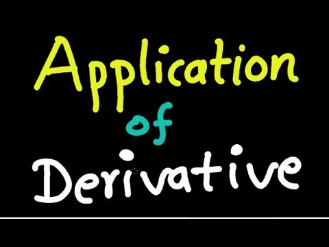 Application of Derivative