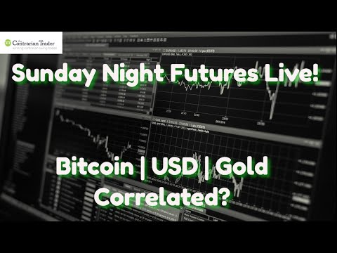 Sunday Night Futures Live! | Bitcoin Correlation USD And Gold