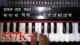 Bangla Folk Song Milon Hobe Koto Dine Harmonium Tutorial