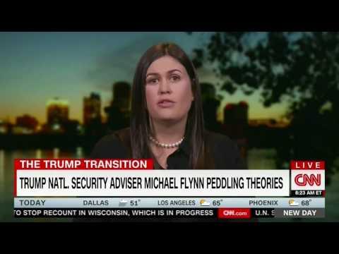 CNN grills Sarah Huckabee on why Gen. Michael Flynn is tweeting fake news #Pizzagate