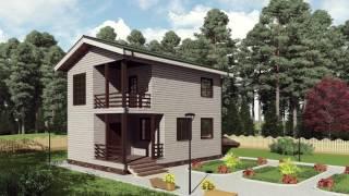 """Проект каркасного двухэтажного дома 6*9 с балконом от """"Строй и Живи"""""""