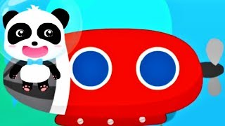 Baby Panda Play and Explore The Sea & Learn To Draw Animals - Educational Children Games