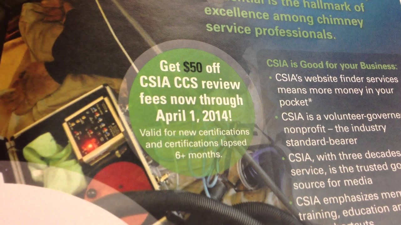 Indy Chimney Sweep Talks About How To Get The Csia Certification