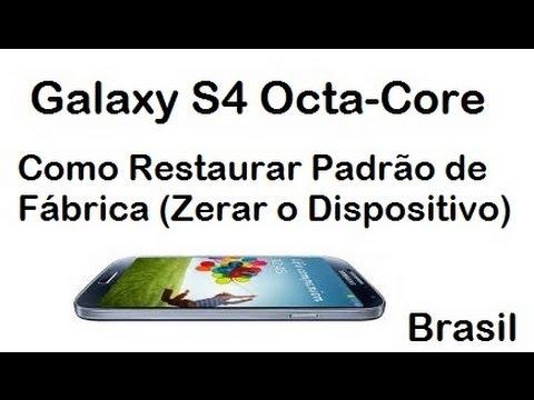 Galaxy S4 - Como Restaurar Padrão de Fábrica (Zerar o Dispositivo)