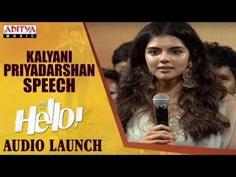 Kalyani Priyadarshan Speech @ HELLO! Movie Audio Launch | Akhil Akkineni, Kalyani Priyadarshan