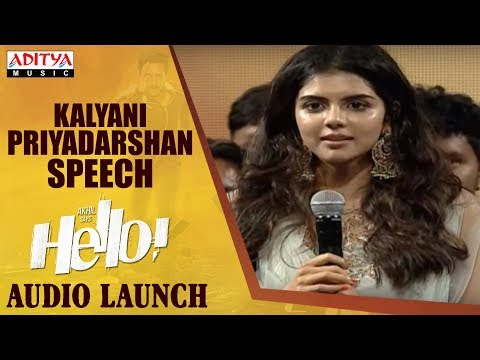 Kalyani Priyadarshan Speech @ HELLO! Movie  Launch  Akhil Akkineni, Kalyani Priyadarshan