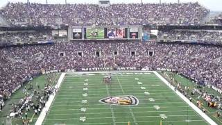 "71,000+ Baltimore Ravens Fans Harmonizing ""Seven Nation  Army""  During 2011 Home Opener"