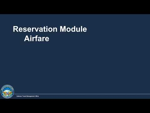 Finding And Making Air Travel Reservations - DTS