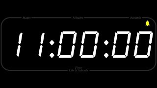 11 Hour - TIMER & ALARM - 1080p - COUNTDOWN