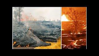 Hawaii volcano eruption: Residents warned of 'ACID STEAM' as lava fills Pacific Ocean