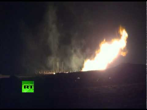 Bombed? Video of blaze as blast hits Egypt gas pipeline to Israel