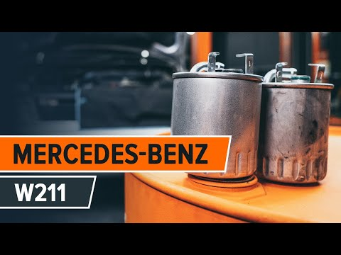 How to replace fuel filter MERCEDES-BENZ E W211 TUTORIAL | AUTODOC