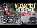 Royal Enfield Interceptor 650 Mileage Test | Panic Brake Test | Top Speed