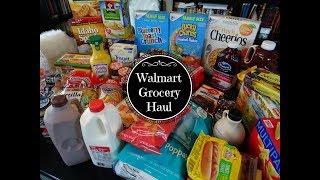 Walmart Grocery Haul & Meal Plan - April 2018