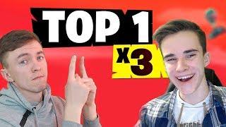 Три раза подряд заняли TOP - 1 \ Fortnite: Battle Royale (Best Moments)