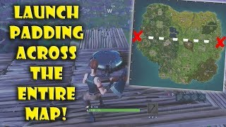Launch Padding Across the ENTIRE FORTNITE MAP Without Touching The Ground