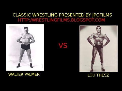 NWA Champion Lou Thesz vs Walter Palmer October 1951 professional wrestling