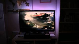 Xbox One with DIY Ambilight Clone running in real time