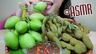 ASMR EXTREME SOUR MANGO & TAMARIND in Thai Shrimp Paste Dipping,CRUNCHY EATING SOUNDS | LINH-ASMR