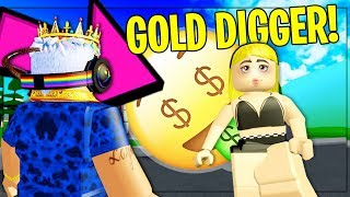 GOLD DIGGER Caught By YOUTUBERS... She Was BAD!! | Roblox Social Experiment