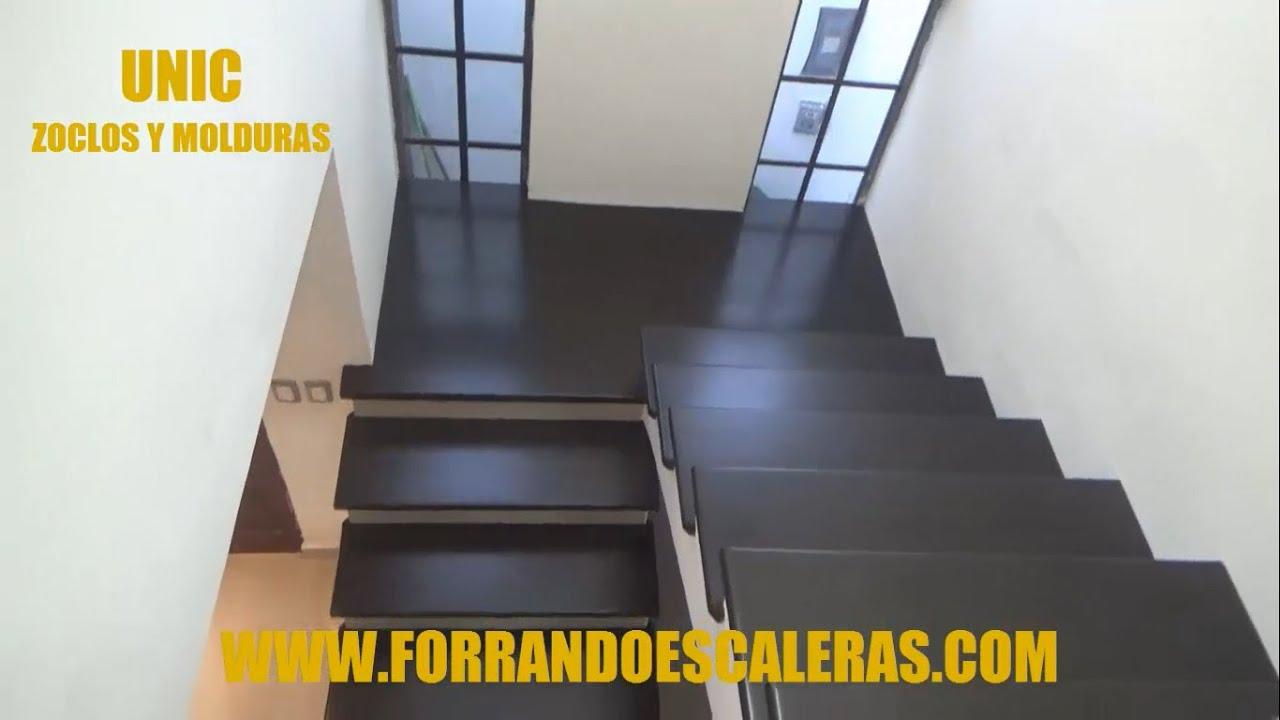 Arreglo de escalera para recibir madera de encino youtube - Peldanos escalera imitacion madera ...