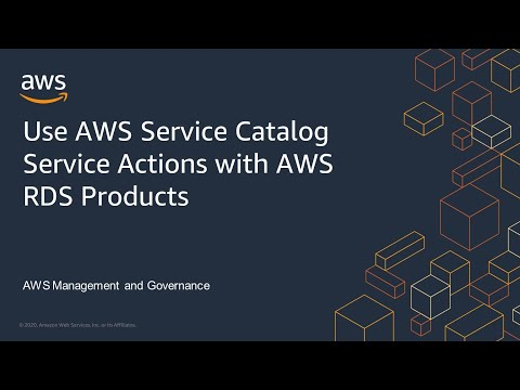 Use AWS Service Catalog Service Actions with AWS RDS Products