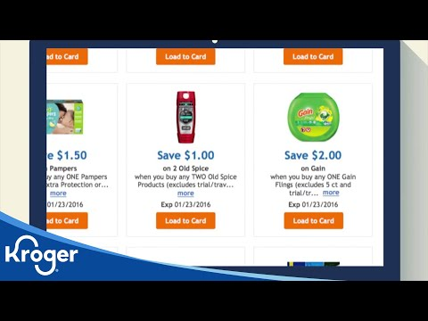 How to: Digital Coupons | VIDEO | Kroger