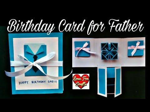 Handmade Birthday Card for Father | DIY | Scrapbook Idea