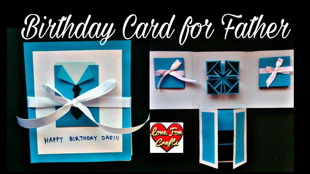 Handmade Birthday Card For Father Diy Scrapbook Idea Youtube