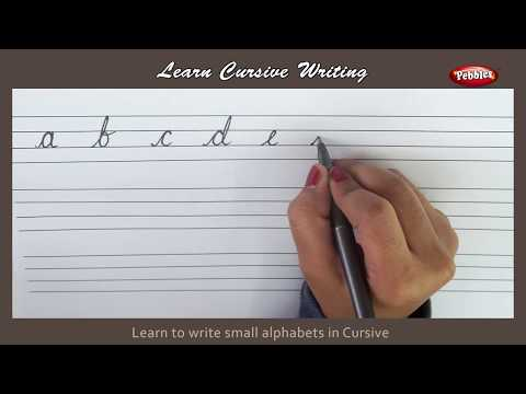 Cursive Writing | Writing Small Alphabets in Cursive | Alphabets in Cursive Letters from YouTube · Duration:  7 minutes 39 seconds