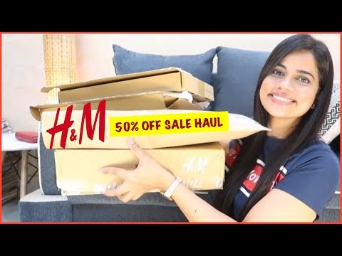 H & M 50% Off ONLINE SALE SHOPPING HAUL | College Wear & Some Lingerie | Sana K