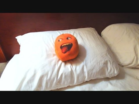 The Stupid Orange In Hotel Pillow Fight
