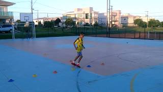 Conditioning, motor coordination, fitness, dribbling and shooting.