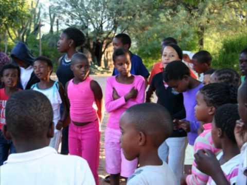 Music time for children in Botswana, Africa