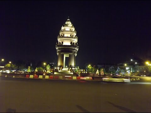 Asian Travel | The Beauty of Independence Monument at Night, Cambodia | Top 10s