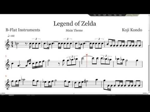 Legend of Zelda Sheet Music - B-Flat Instruments