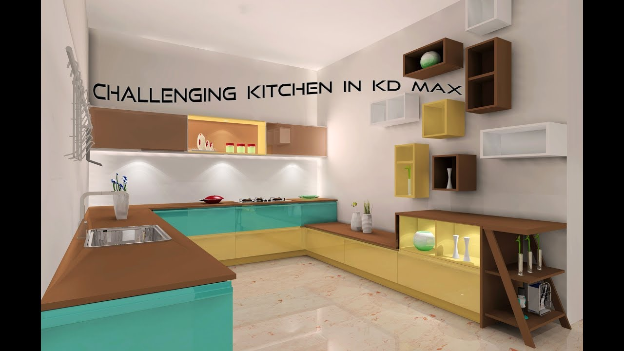 Challenging Kitchen In Kd Max Perfect Light Setting Tutorial Youtube
