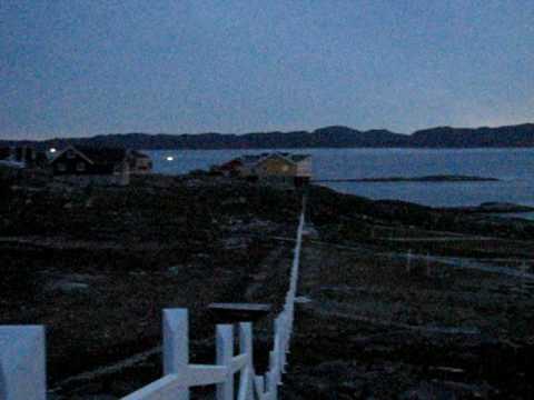 Midnight sun in Nuuk - Greenland