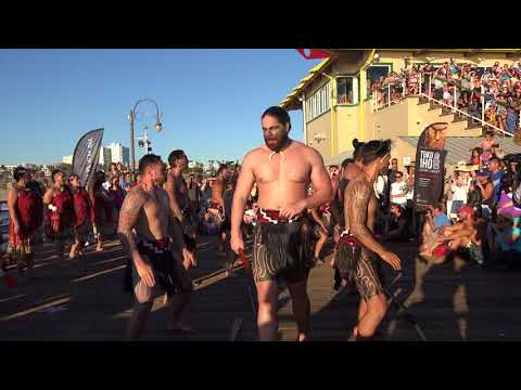 New Zealand's Māori at Santa Monica Pier