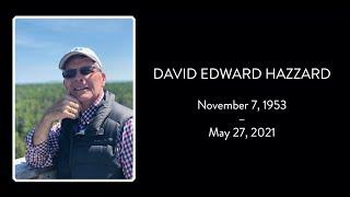 David Hazzards Memorial Service
