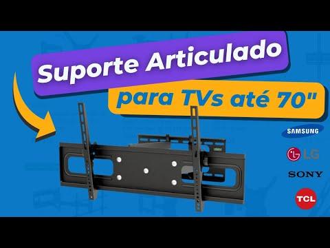 Suporte Tv articulado 50 55 60 63 65 polegadas LG SAMSUNG parede