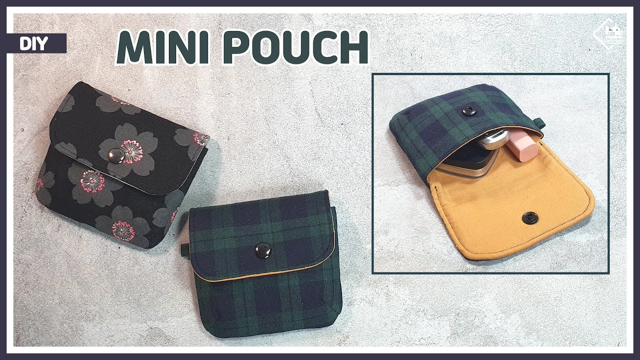 DIY Easy to make mini pouch / makeup pouch & free pattern [Tendersmile Handmade]