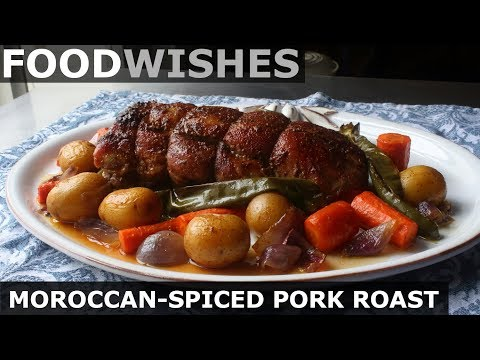 Moroccan-Spiced Pork Loin Roast - Food Wishes - Holiday Roast