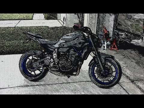 fz 0z mt 07 wheelie and cruise around ride with akrapovic. Black Bedroom Furniture Sets. Home Design Ideas