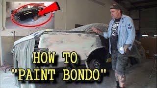 "How Do I Sand ""BONDO"" and Make It ""PAINT READY""? - From Start To Finish"